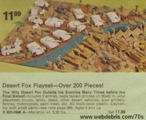 Marx Desert Fox Play Set