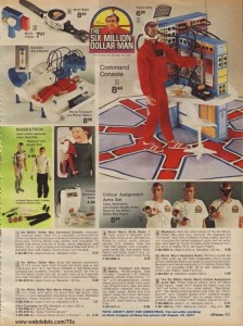 Six Million Dolar Man and Accessories from 1976