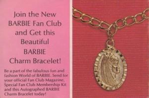 Barbie Fan Club Charm Bracelet