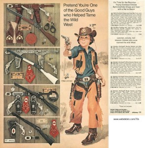 Cap Guns from JCPenny 1974 Wishbook