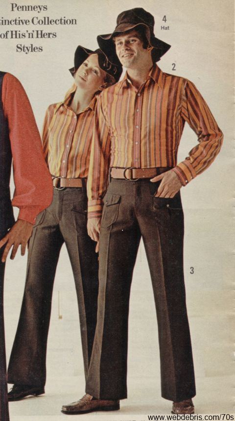 Matching His and Hers Outift 1970 - Matching His And Hers Outfits… – Remembering The 70s