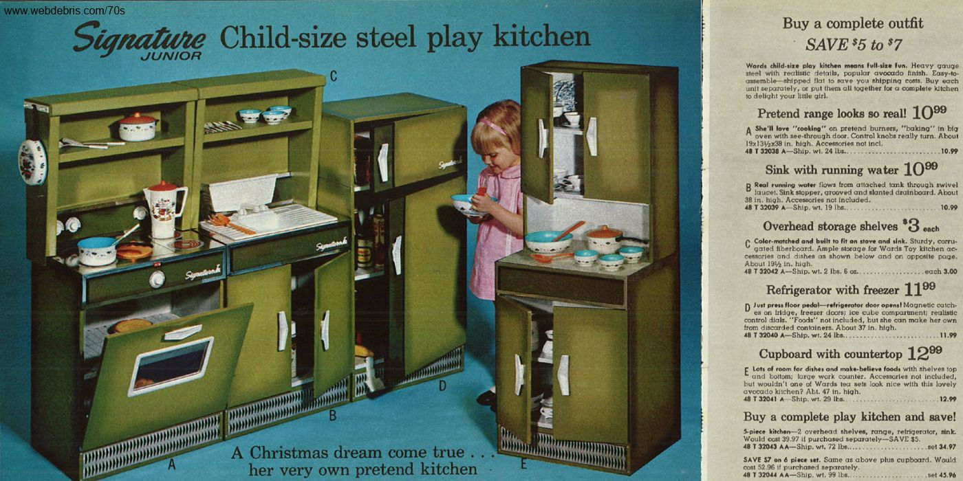 Kitchen Play Set From 1970 Remembering The 70s