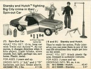 Starsky and Hutch Play Set 1977