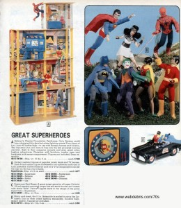 Super Hero Action Figures from the 70s