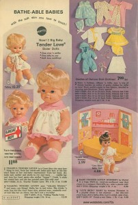 Baby Tender Love's Sisters and Accessories 1972