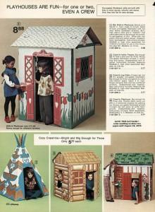 Cardboard Playhouses from 1974