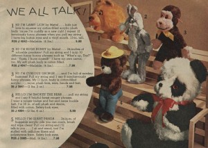 Talking Stuffed Animals from the 70s
