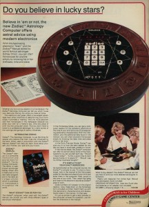Zodiac Astrology Computer from 1979
