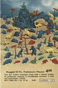Prehistoric Play Set from Aldens 1972