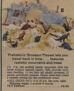 1979 Pre-Historic Dinosaur Play Set from Sears