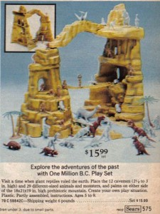 One Million BC Play Set from Sears 1975