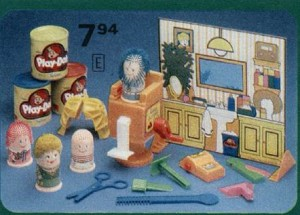 Play-Doh Fuzzy Pumper Barber and Beauty Salon from 1974