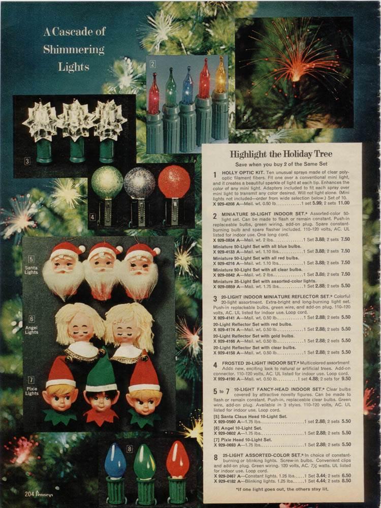 christmas lights from 1970 - Reflector Christmas Lights
