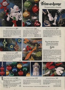 Christmas Ornaments from Eaton 1973