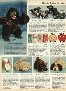 Stuffed Animal AM Radios from 1977