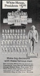 White House Presidents Plastic Figurines from 1972