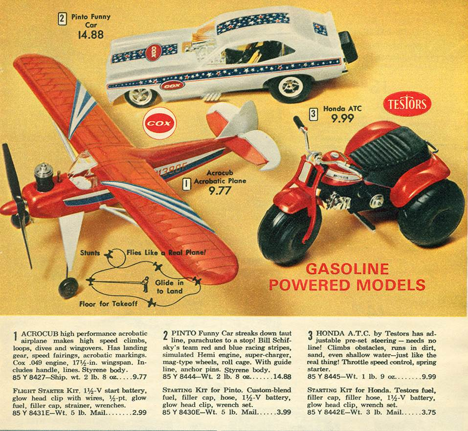 Various Cox Gas Powered Toys