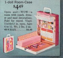 Gentil One Doll Room Case For Barbie 1972