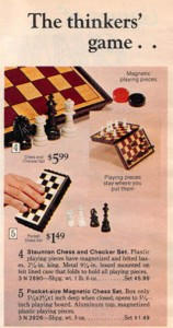 Magnetic Bookcase Chess Set from 1972