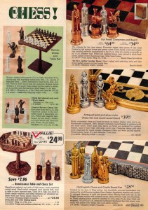 Fancy Chess Sets from 1972