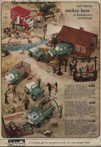 Smokey the Bear Play Set 1972