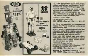 Mr. Machine and Mighty Max from 1977