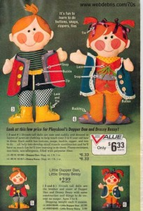 Dapper Dan and Dressy Bessy from Playskool 1972