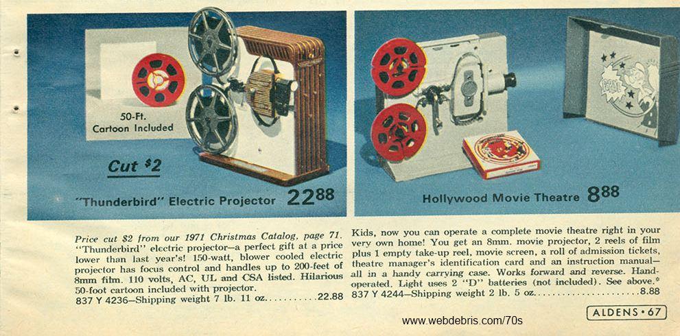 8MM Movie Projectors from 19728MM Movie Projectors from 1972