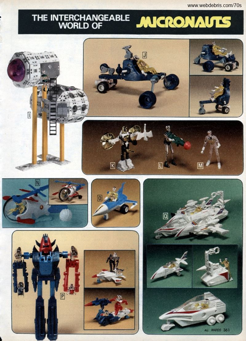 Micronauts from Wards 1978 Catalog
