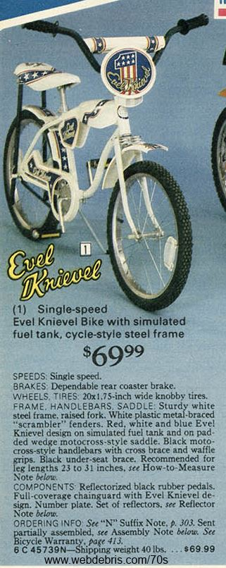 Evel Knievel Bike from 1977