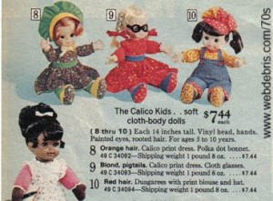 The Calico Kids from Sears 1975