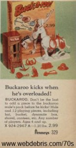 Buckaroo Game from 1970