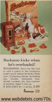 Buckaroo Game from 1970