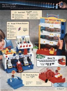 Fisher Price Small Mall and Rough N Ready Rescuers from Sears 1977