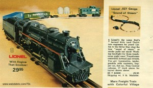 Lionel O Scale Train Set from Aldens 1972