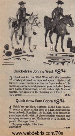 Quick Draw Johnny West and Quick Draw Sam Cobra from Sears 1975