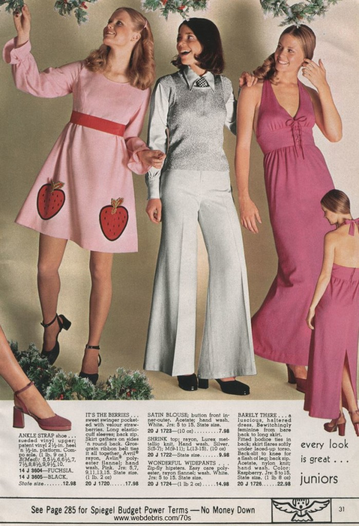 Strawberry Prints, Bell Bottoms, and a Halter Dress from 1972