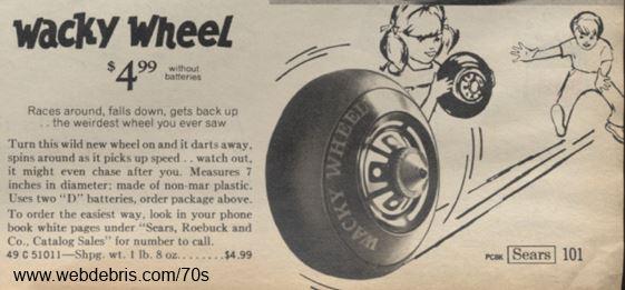 Wacky Wheel from Sears 1971