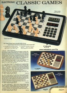 Electronic Chess Sets from 1979