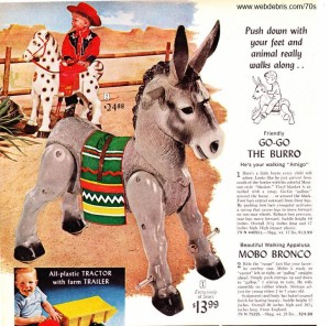 Go-Go the Burro and Mobo Bronco from Wards 1968