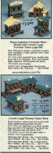 Lincoln Log Sets from 1977