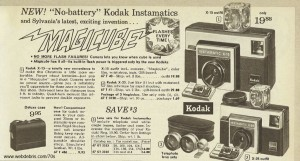 Magicube and Instamatic Cameras from 1970