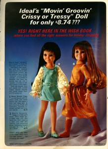 Movin' Groovin' Crissy and Tressy Dolls by Ideal - 1971