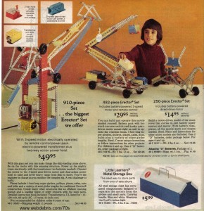 Erector Sets from 1975