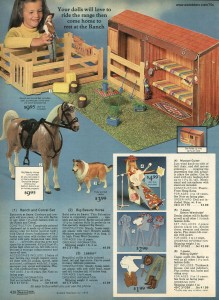 Ranch and Corral Set with Big Beauty Horse and Lassie from 1977