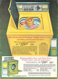 Kenmore Washer and Dryer from 1972