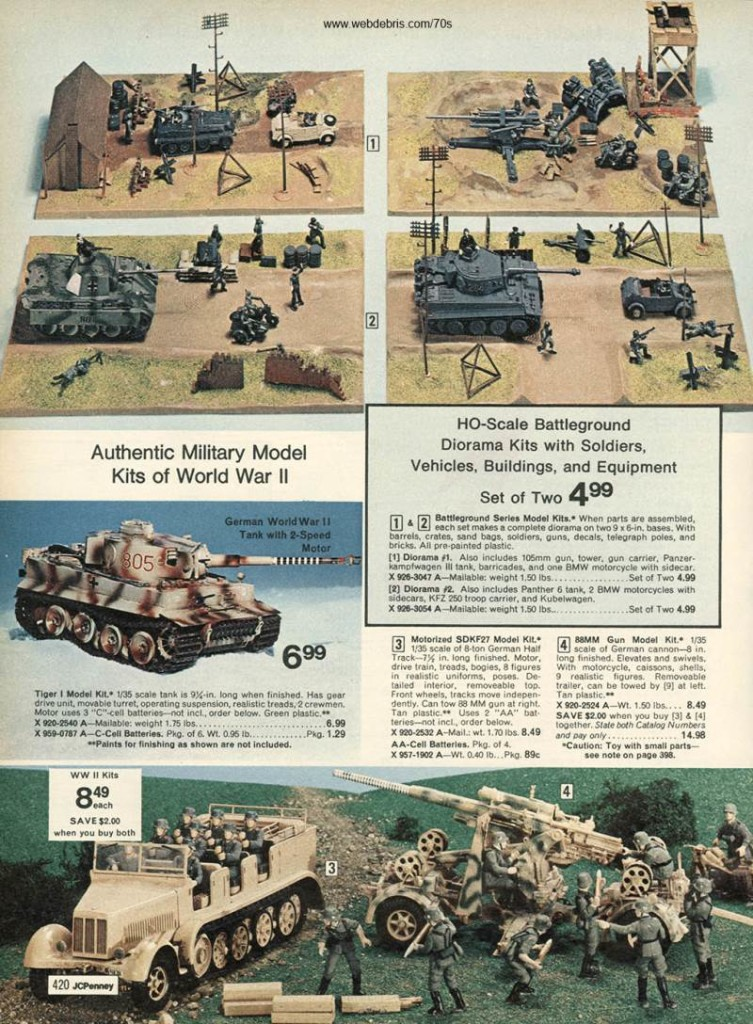 WWII Model Kits from 1974