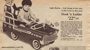 Hook N Ladder Pedal Car from 1969