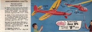 Remote Control Plane and Copter from 1975