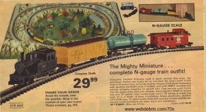 The Might Miniature N Gauge from 1975